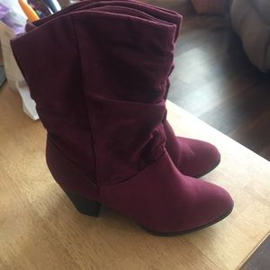 Rampage suede boots mid calf